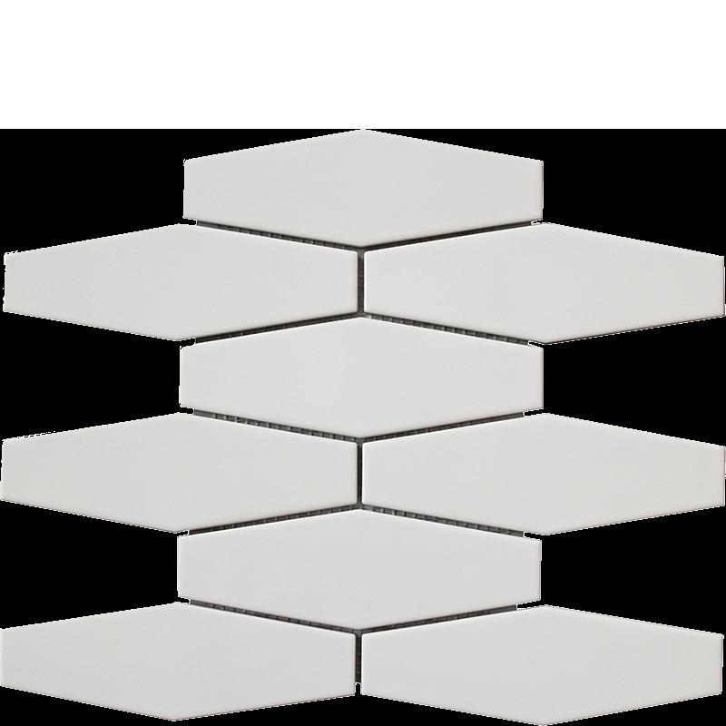 White Long Hexagonal Mosaic