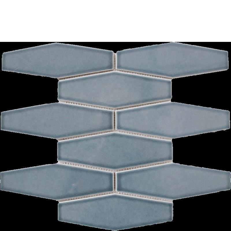 Dark Slate Long Hexagonal