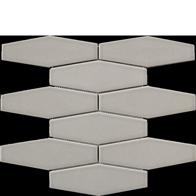 Whisper Grey Long Hexagonal Mosaic