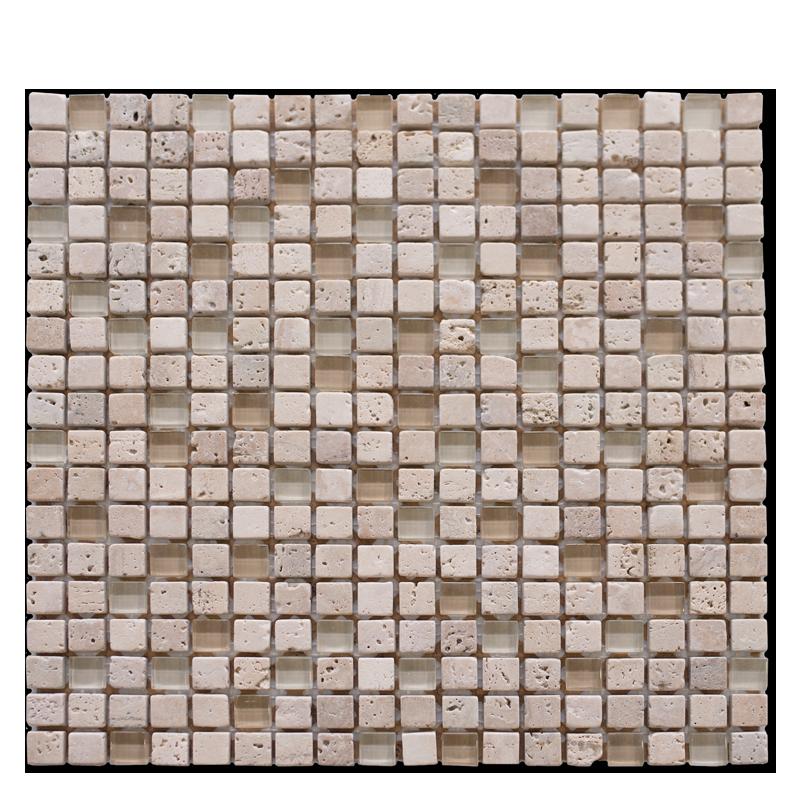 Travertine & Glass Mosaic