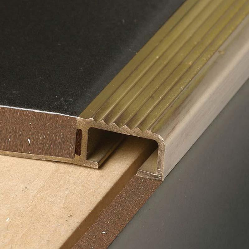 Brass Tile in Stairnosing