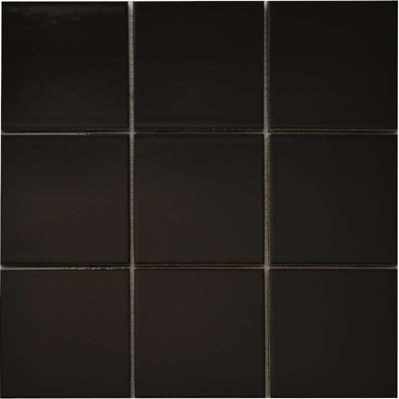 Gloss Black Porcelain Mosaic