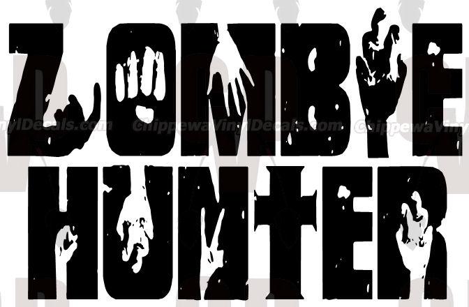 free--zombiehunterdecal