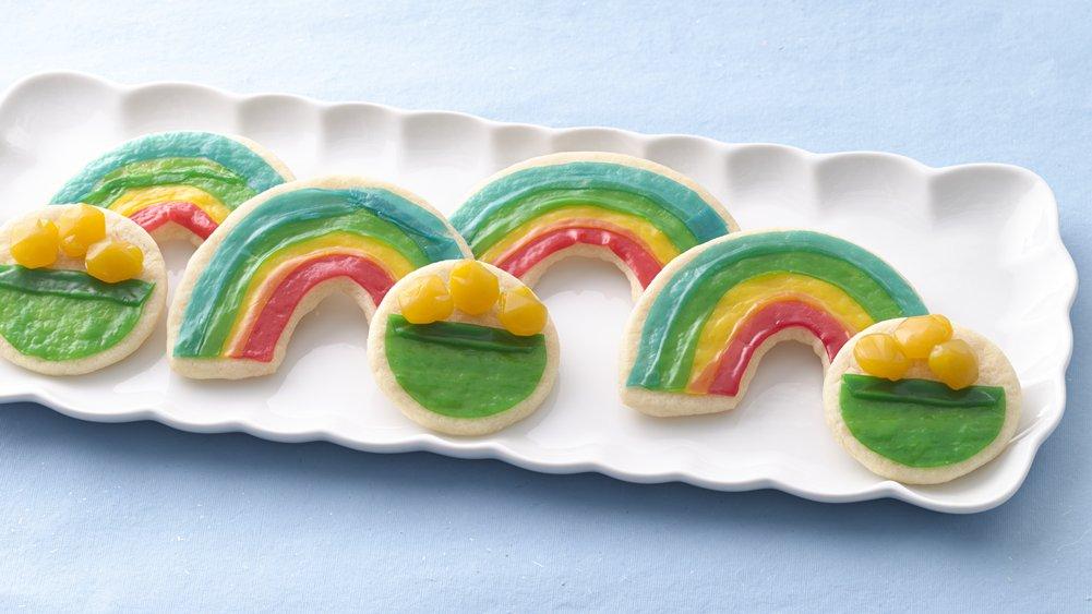 63-Rainbow-Recipes-Gold Cookies
