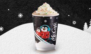 Get a FREE McCafe Peppermint Mocha!