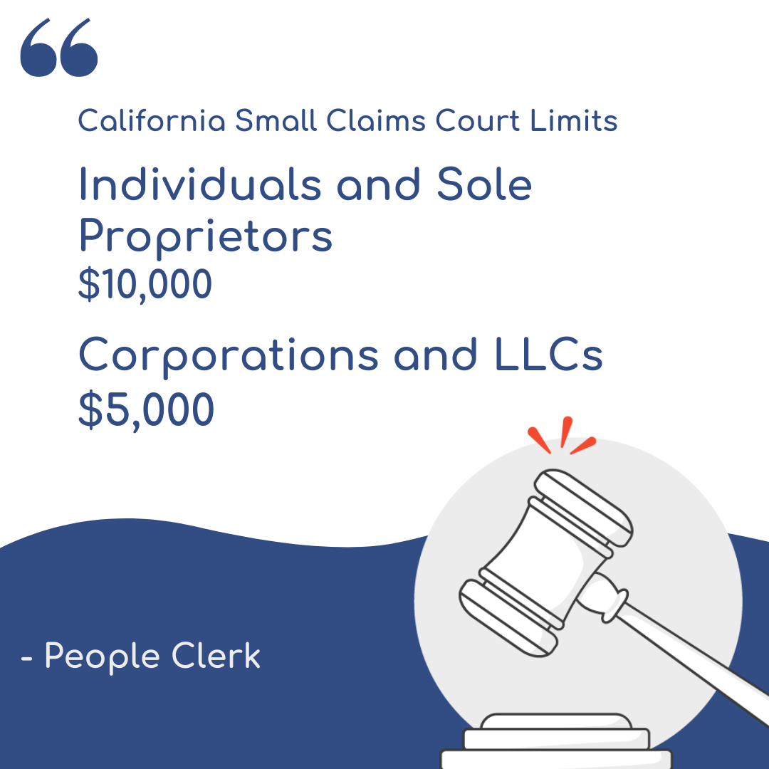 California Small Claims Court Limits