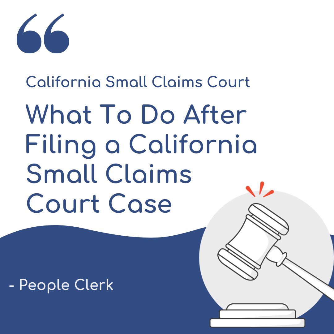 Serving your California Small Claims Lawsuit