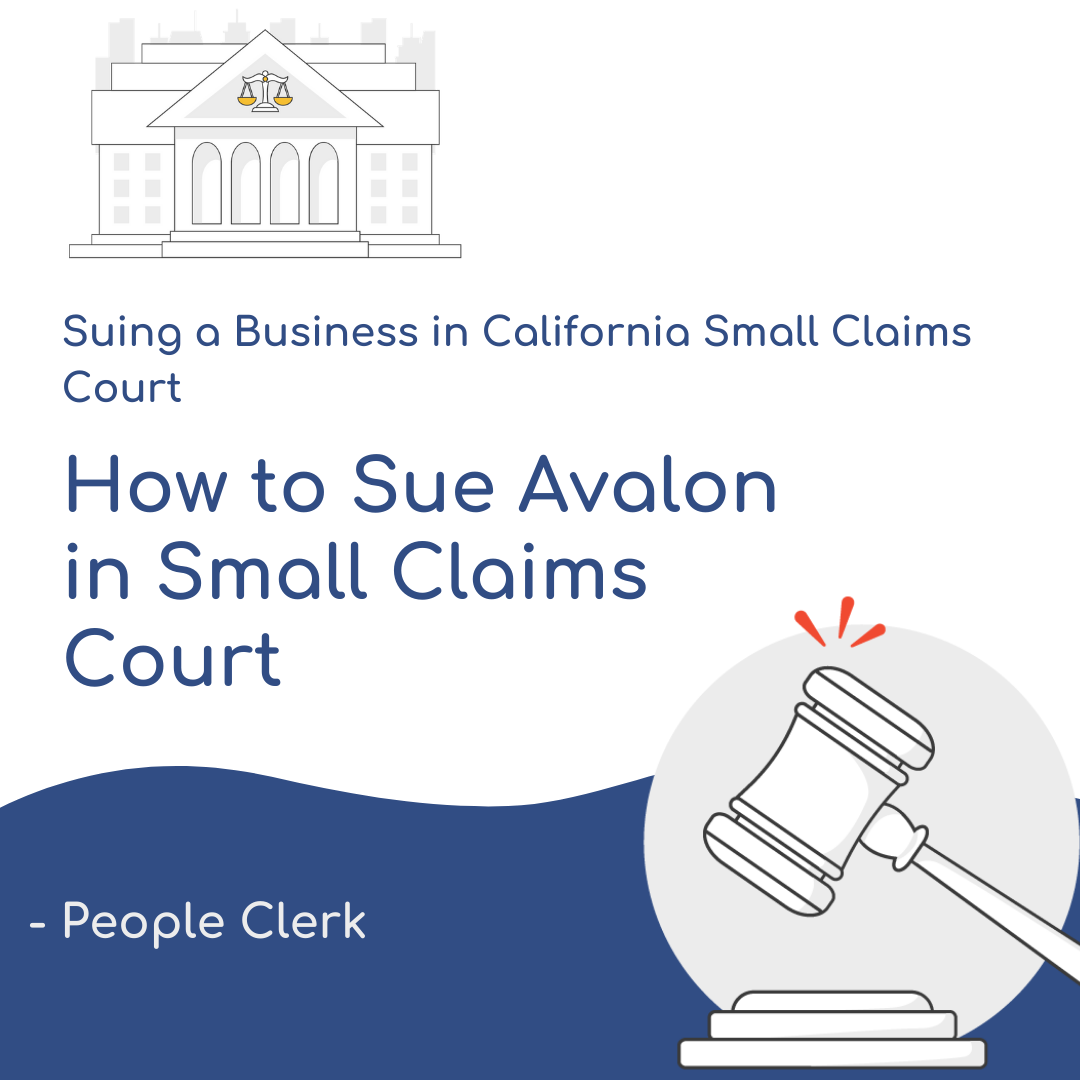 How to Sue Avalon Bay in Small Claims Court