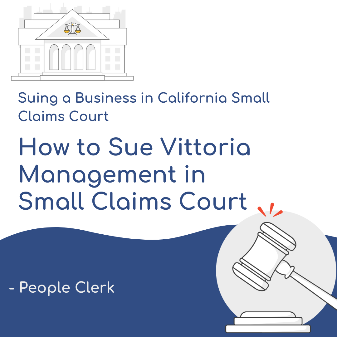 How to Sue Vittoria Management in Small Claims Court