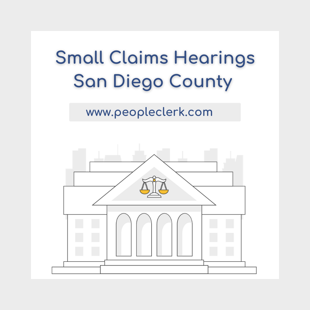 The Small Claims Hearing- San Diego