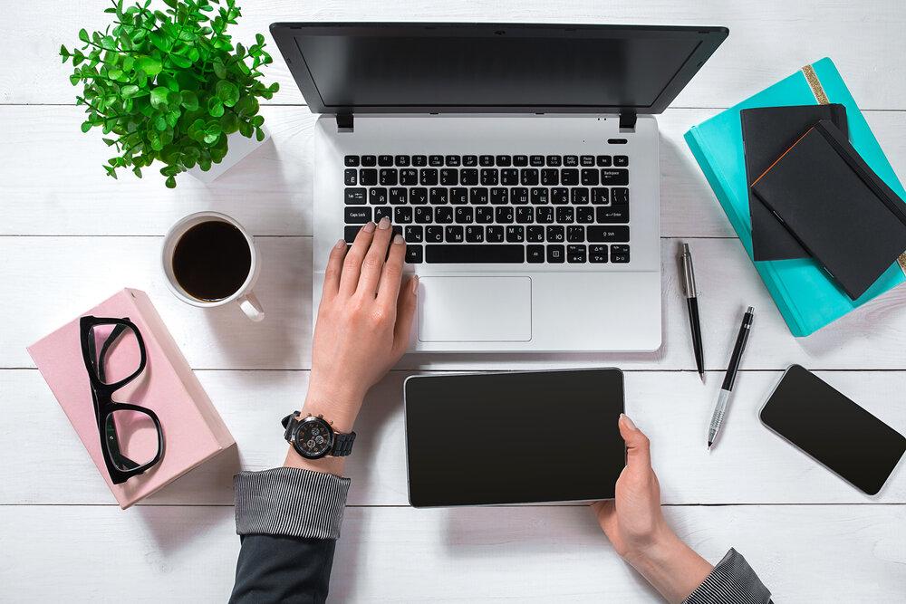 Photo of laptop on a desk