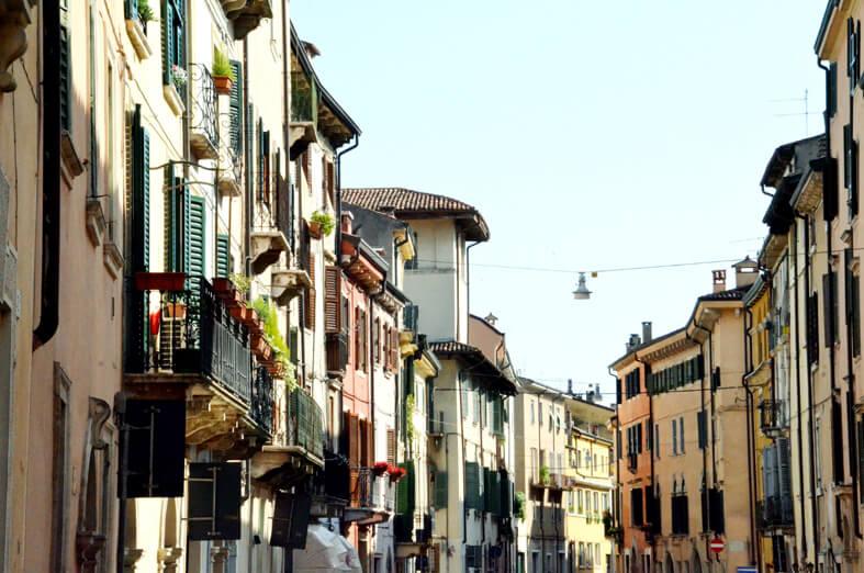 Via del centro di Verona