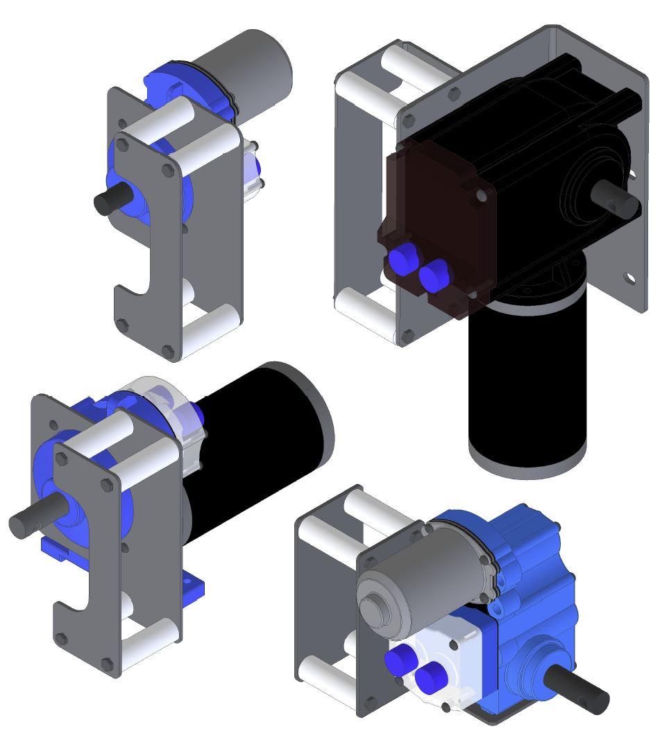 24 volt Curtain drive motors