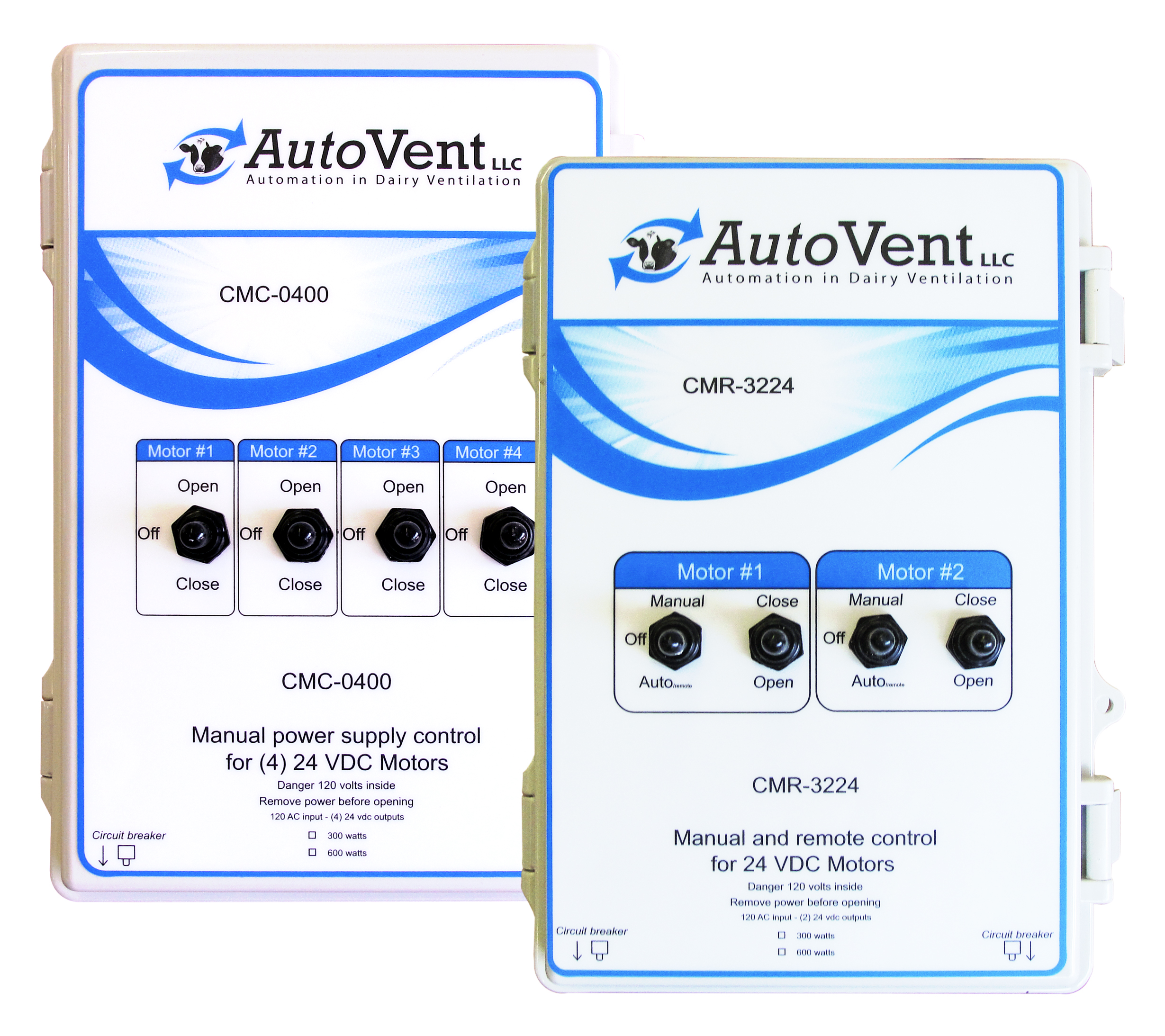 AutoVent manual 24 volt motor controls