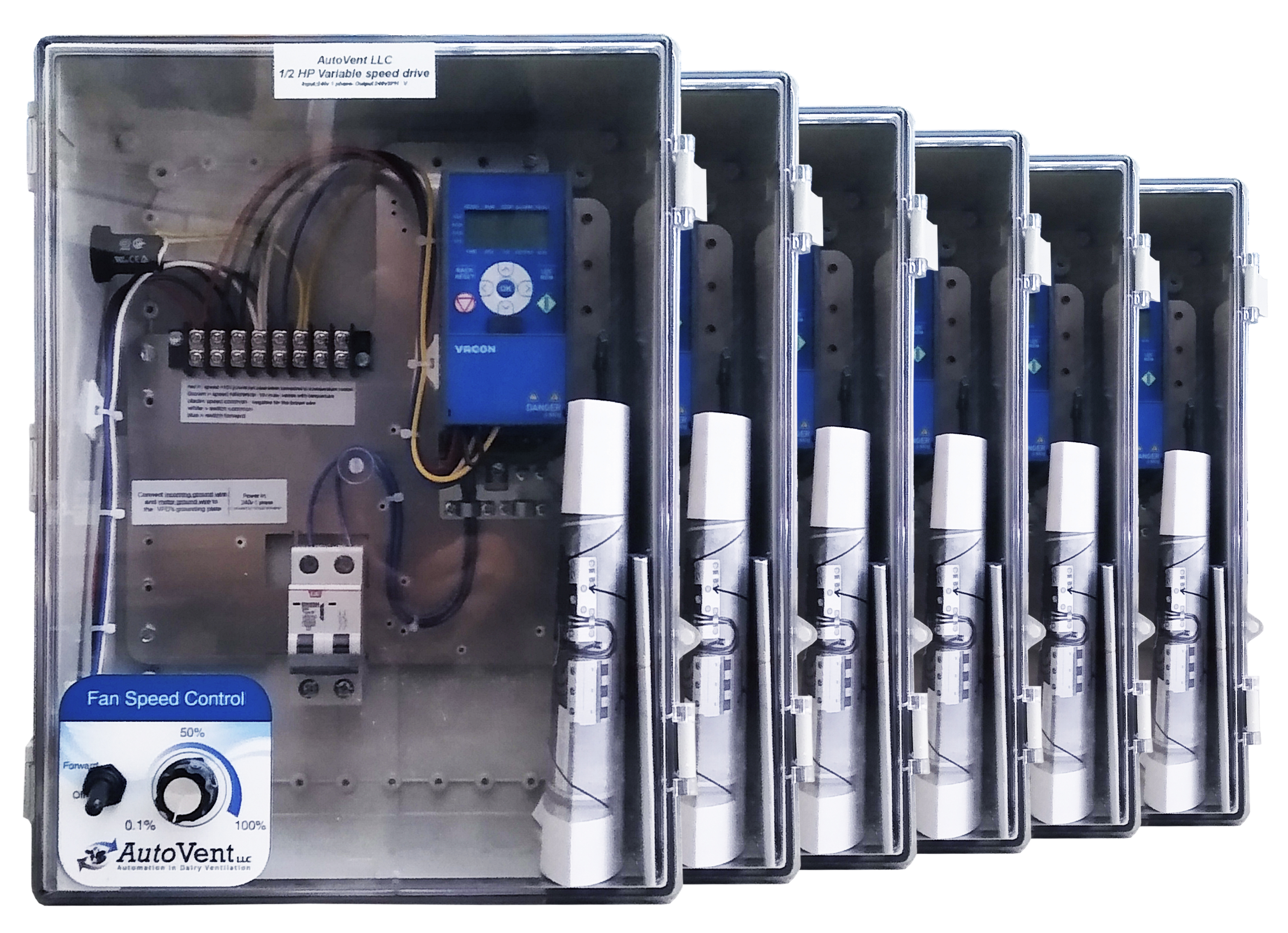 AutoVent variable speed drives come in a variety of sizes