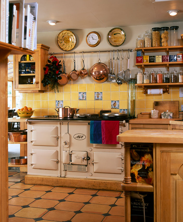 Old fashioned kitchen with aga