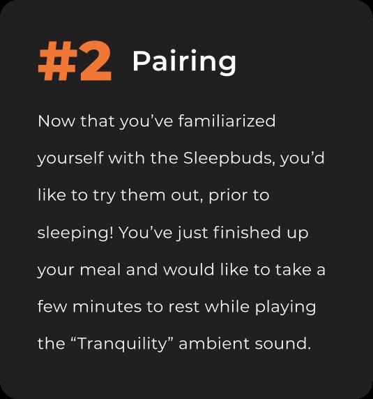A graphic describing the second scenario (bluetooth pairing).