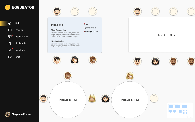 Image of Eggubator hub floor plan (exploring different opportunities).