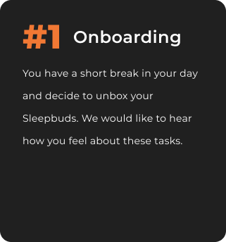 A graphic describing the first scenario (onboarding).