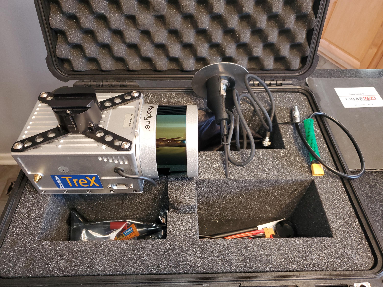 ScanLook Trex UAV Lidar with M600 and camera