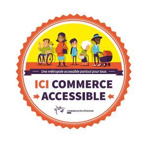 Logo de la métro pour l'aide au commerce accessible