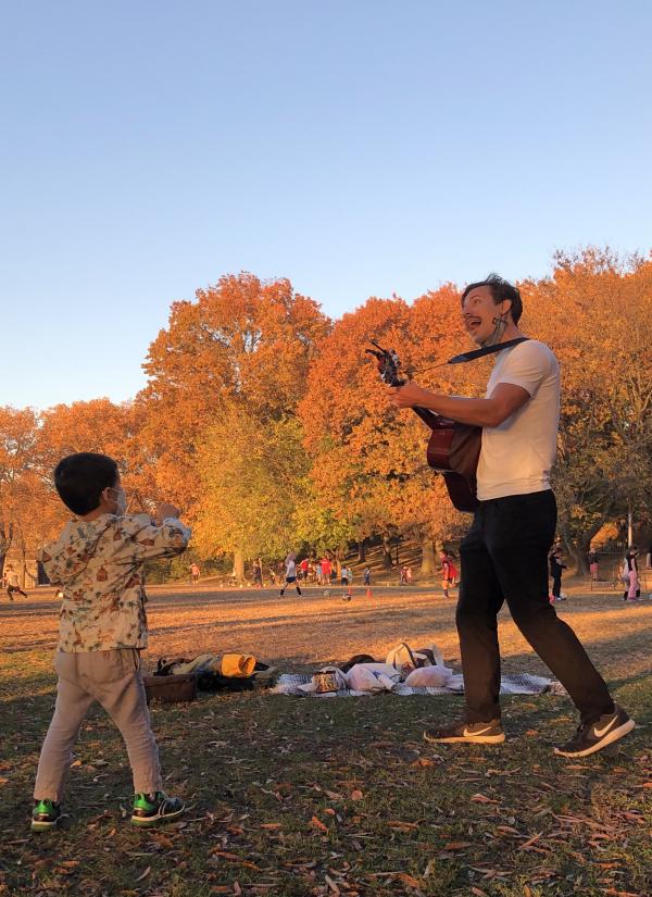 Ryan teaches in Riverside Park