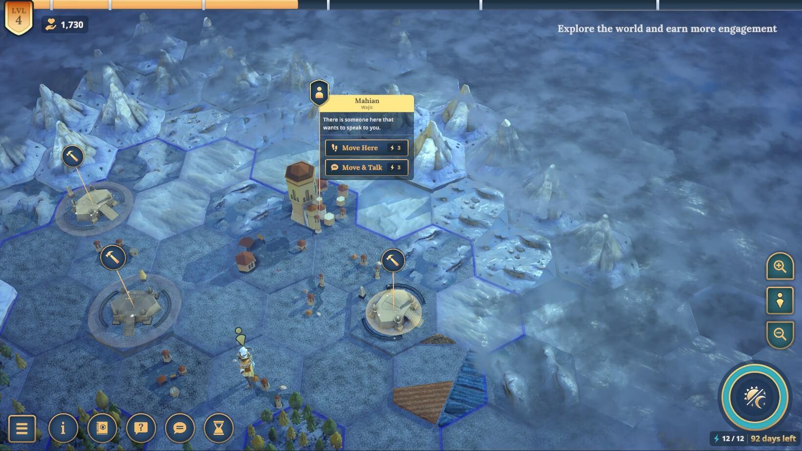 A screenshot from Sharmila, in the town of Mahian - the capital city of Wajic.