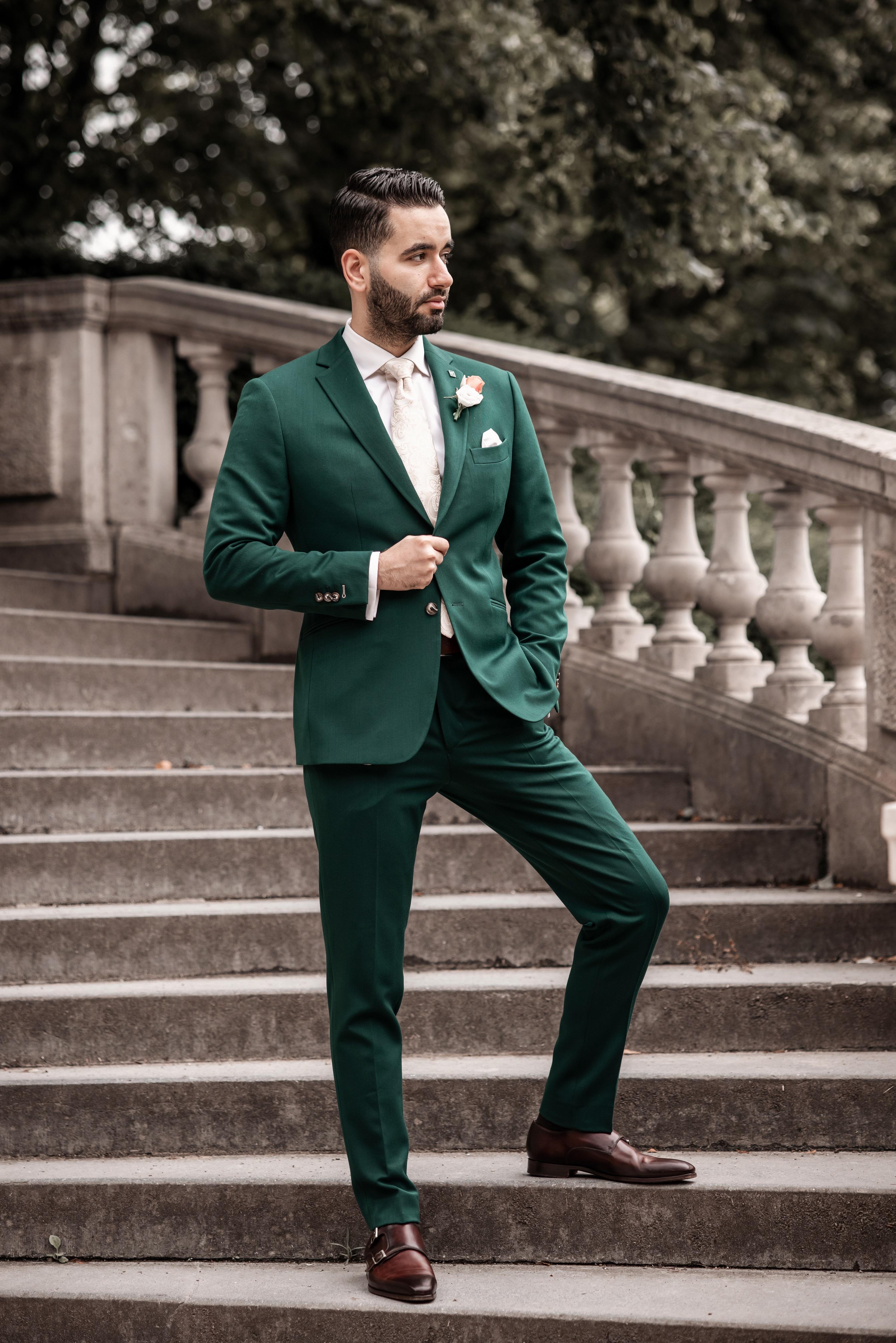 Donker groene