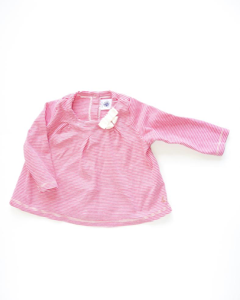 T-shirt rayé rose Petit Bateau