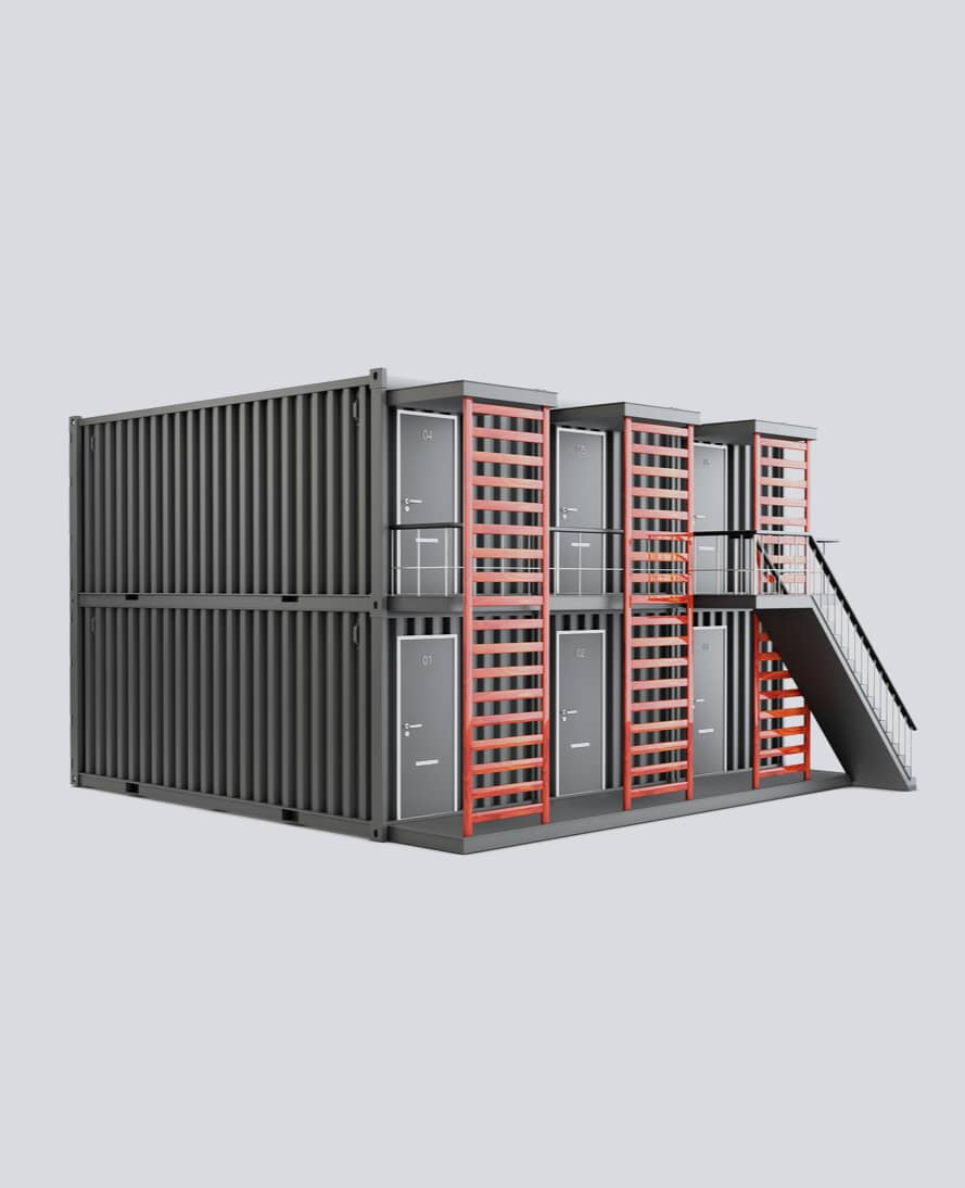 an office build from 6 sea containers
