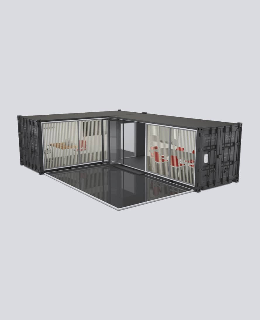 A simple office build from 2 sea containers