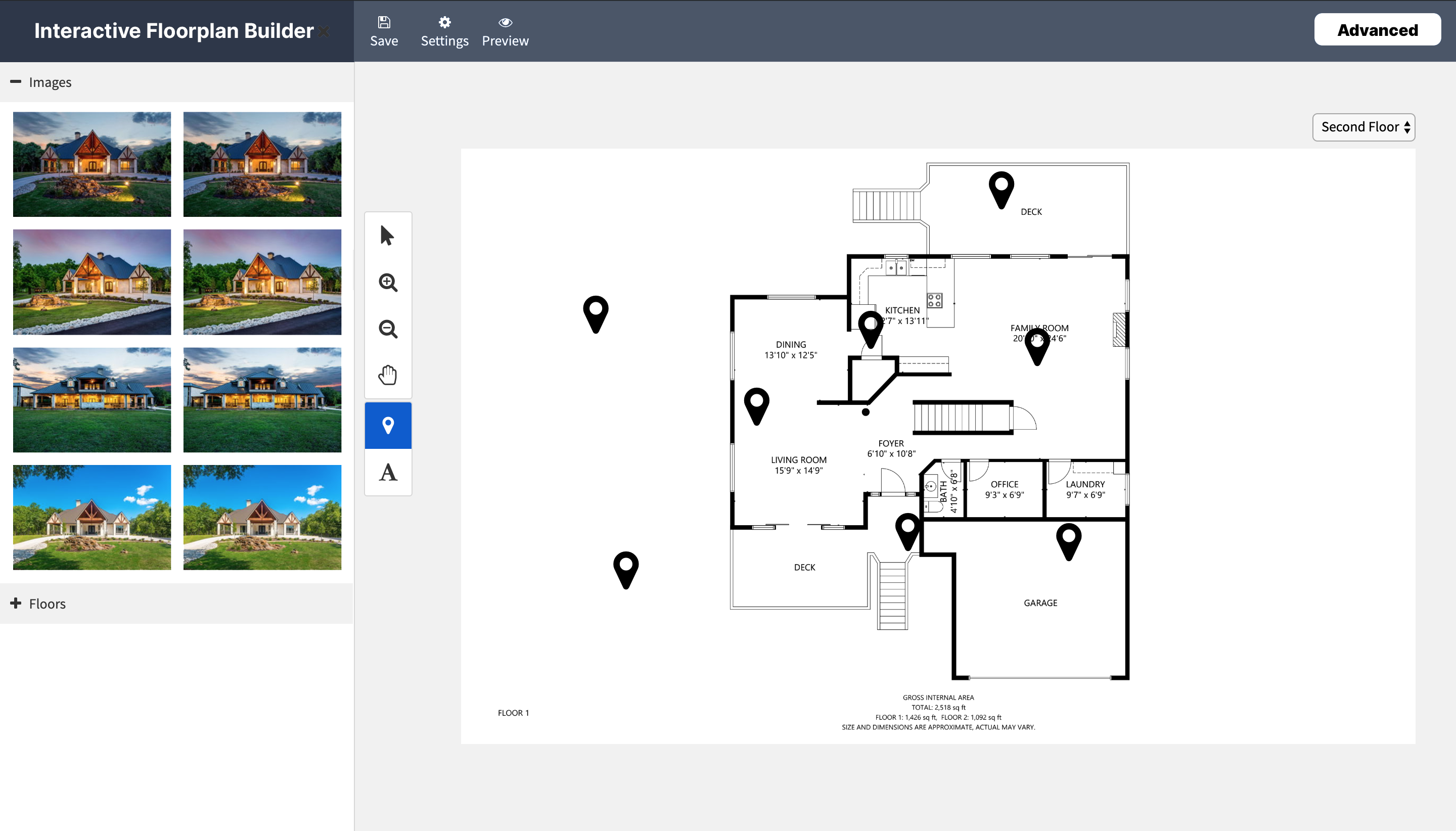 Update #2: Interactive Floorplans