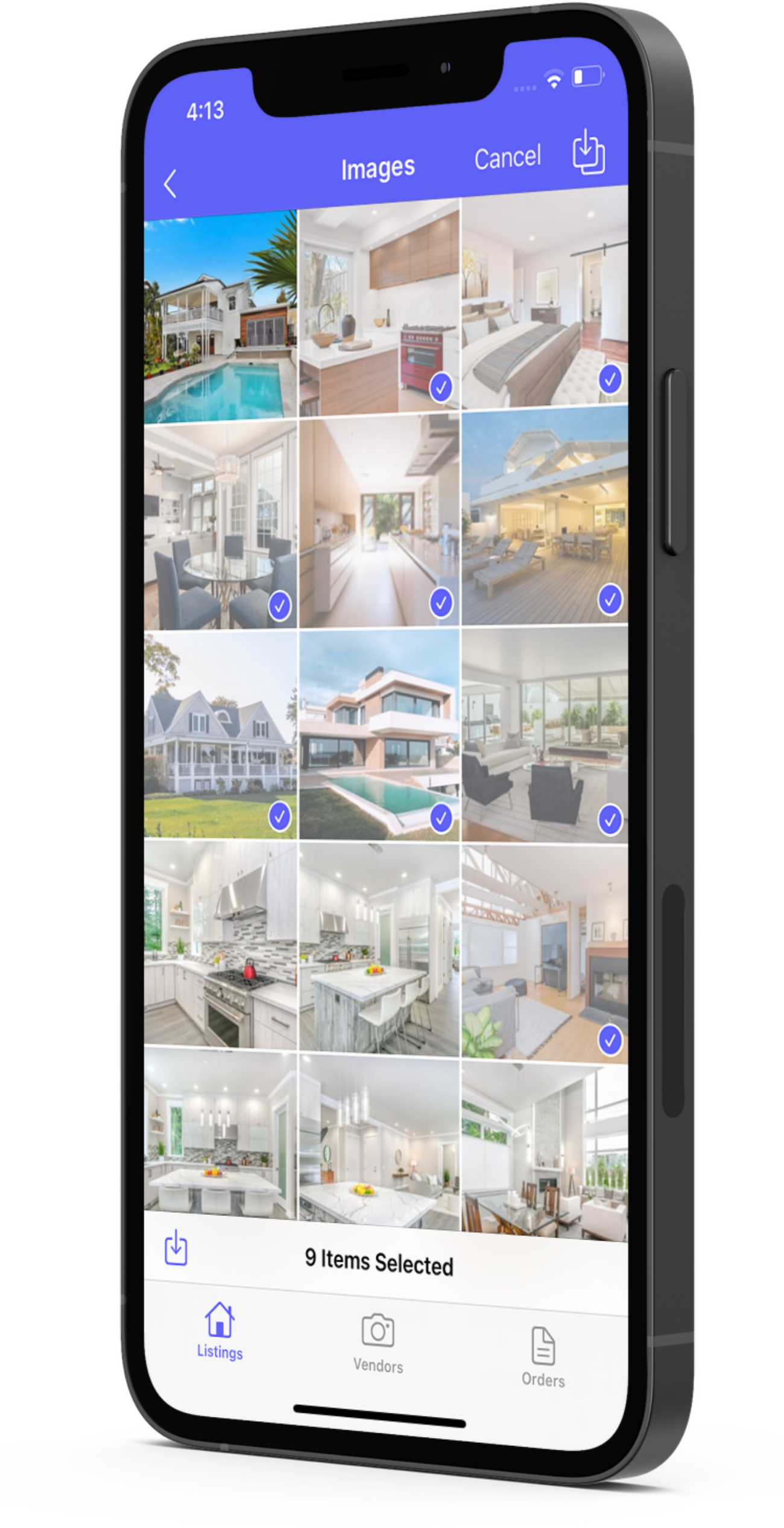 Manage your listings on the Aryeo mobile iOS listings App. Download and share images directly on your phone.