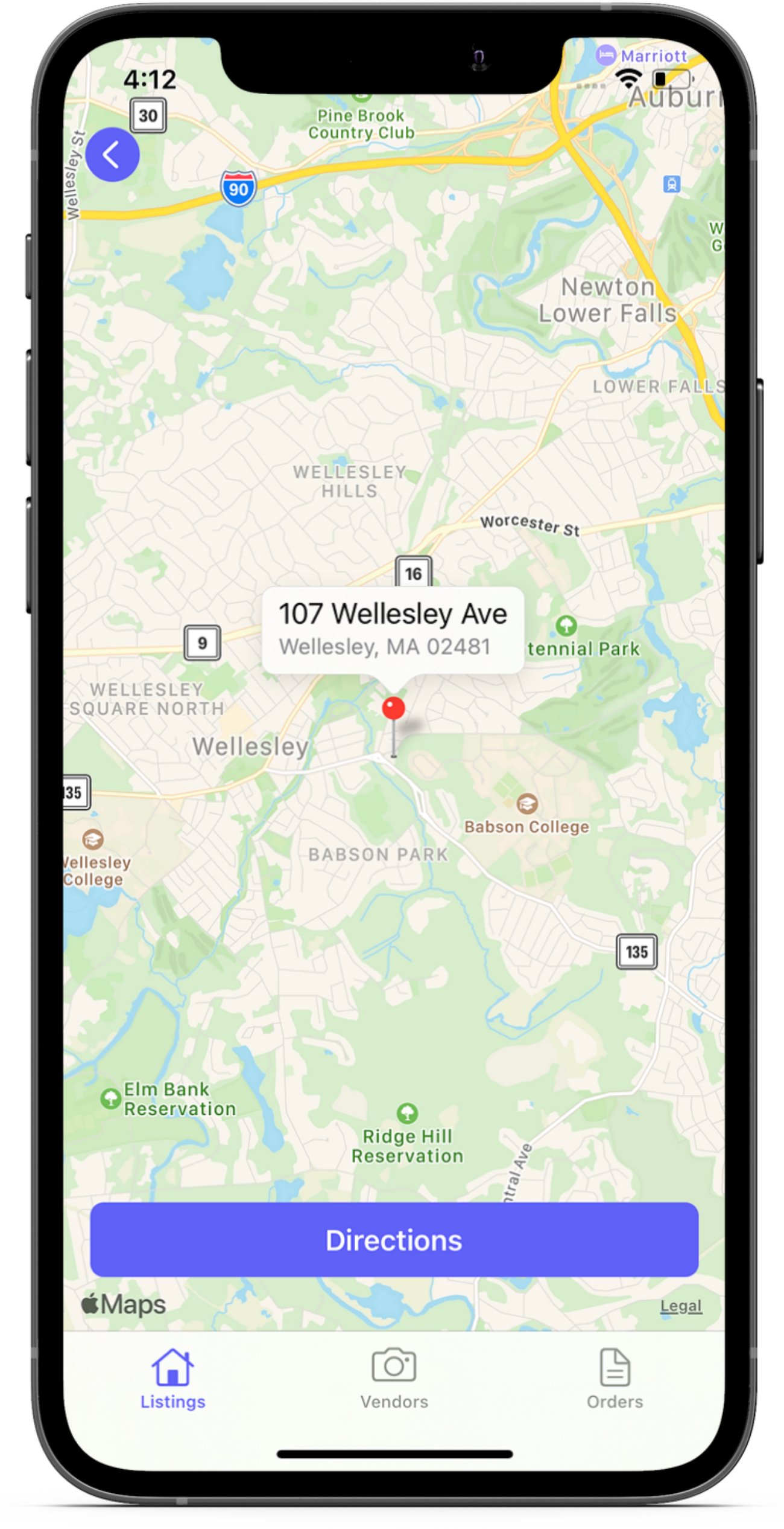 Manage your day directly in the Aryeo Mobile iOS listings app. Get directions directly to listings.