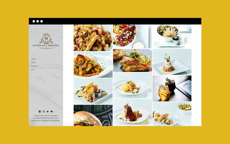 Nicholas A Johnson Photography website food category