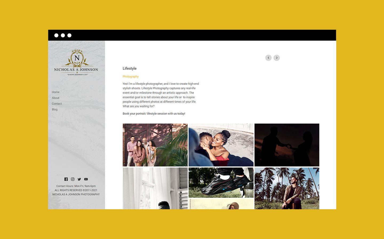 Nicholas A Johnson Photography website category single