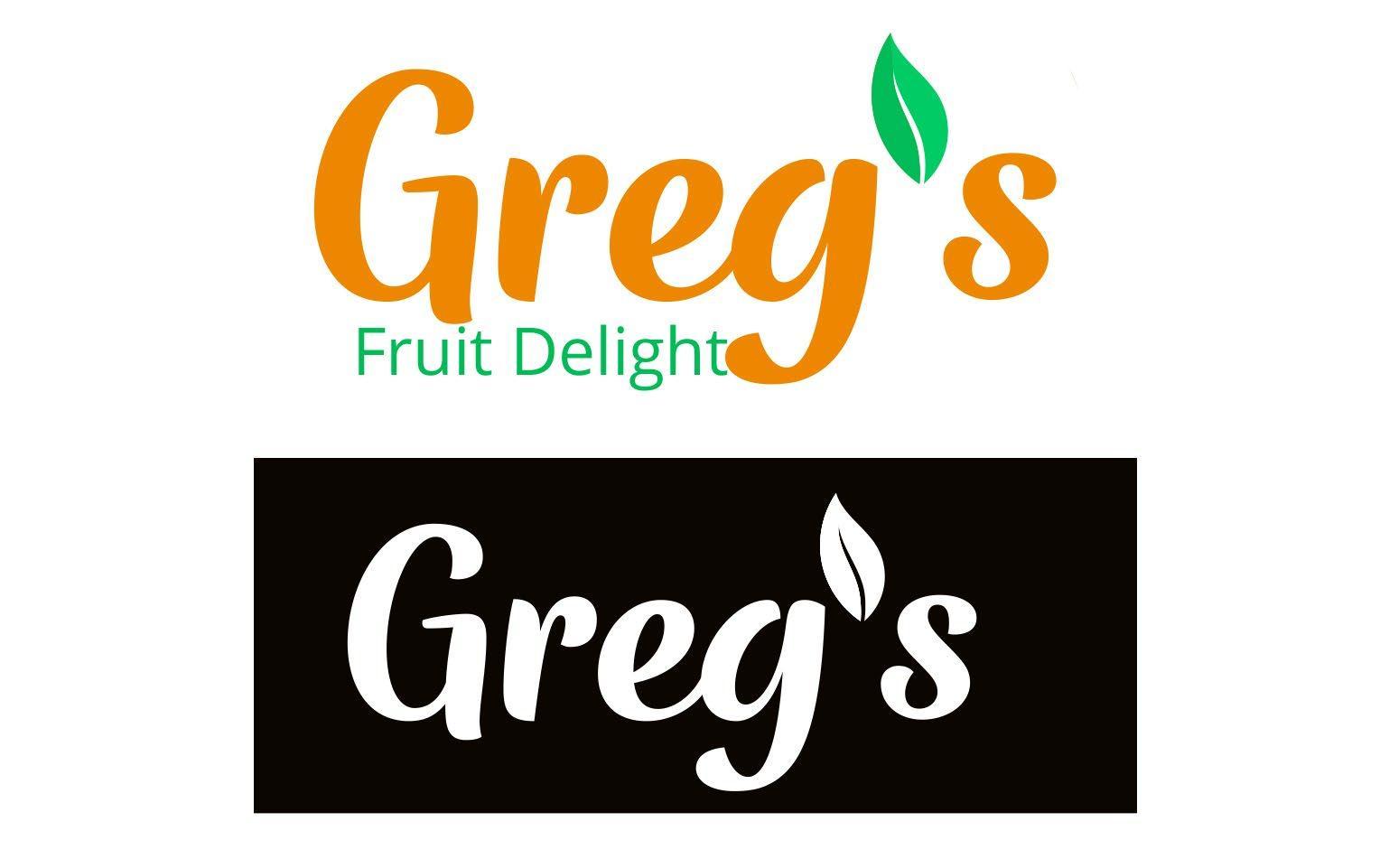 Greg's Fruit Delight logo concepts 1