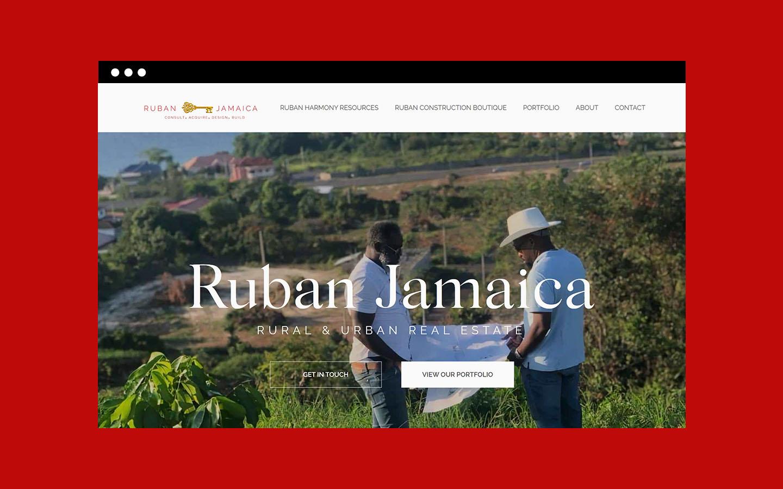 Screenshot of Ruban Jamaica's landing page