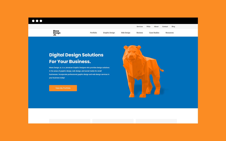 Homepage of Mane Design Ja