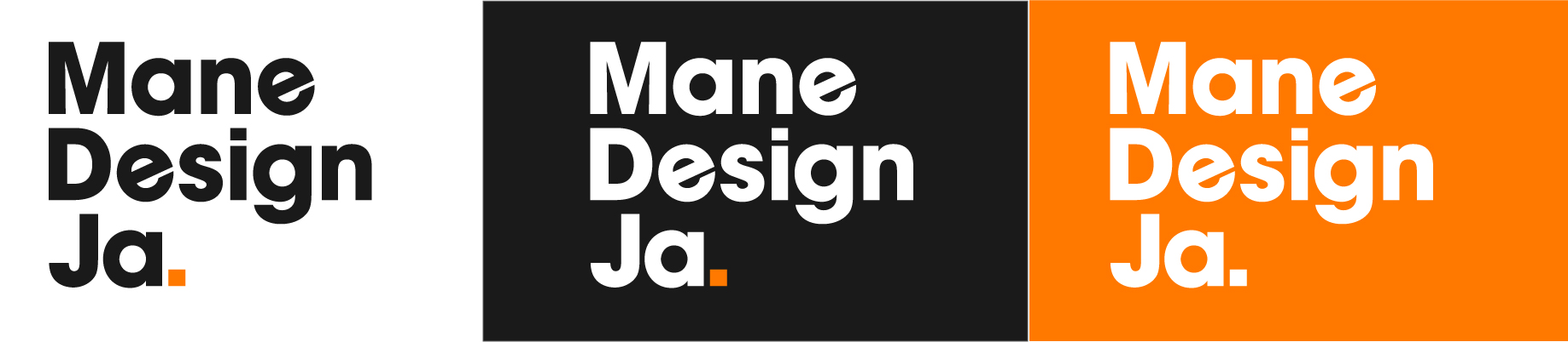Mane Design Ja logo and variations