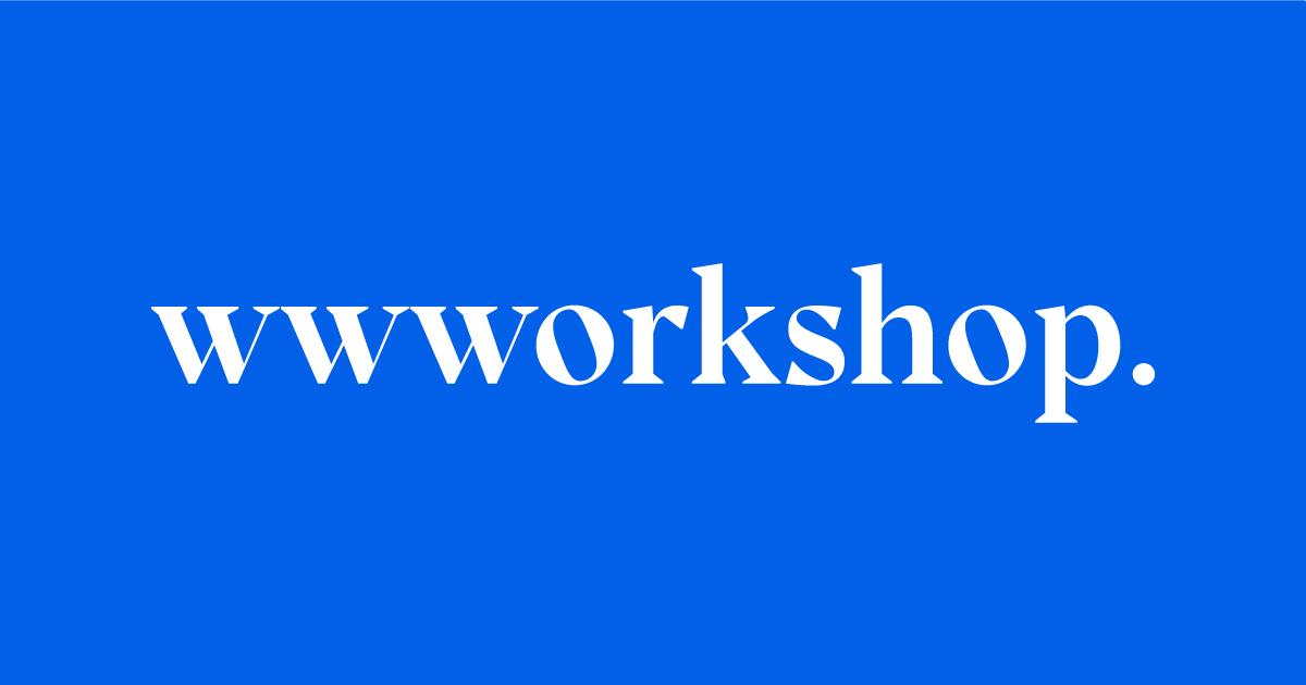 wwworkshop logo on blue background