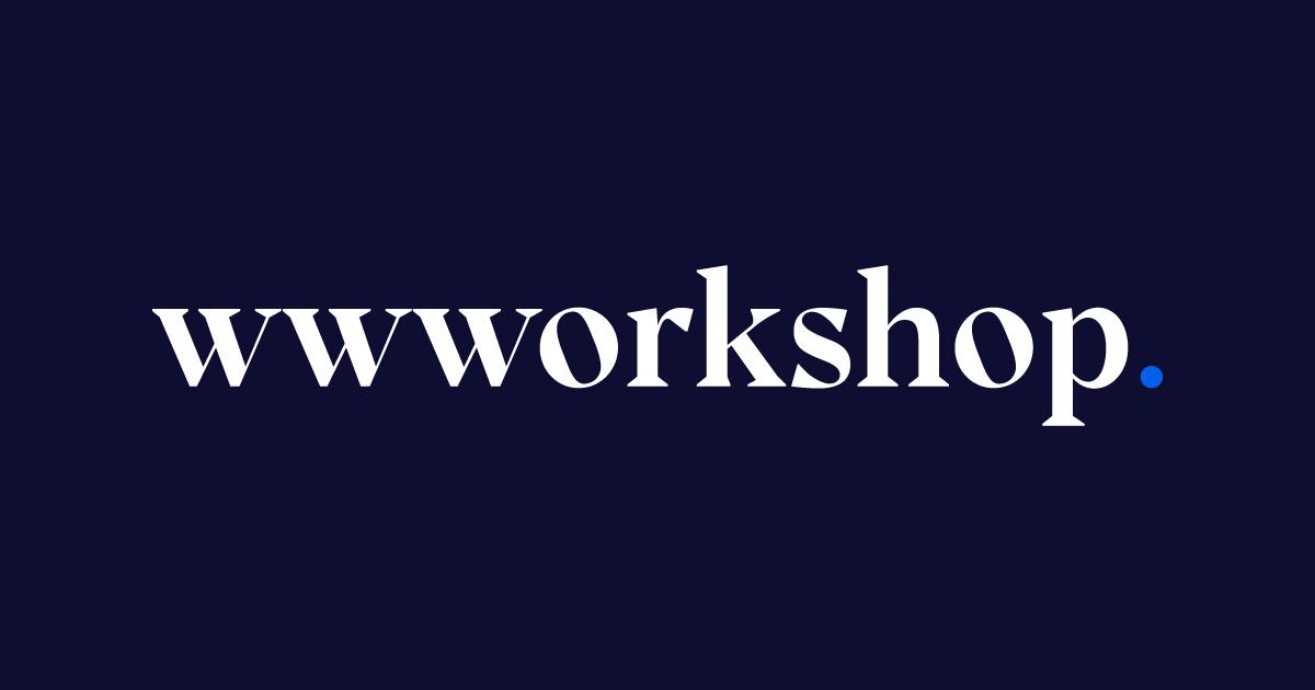 wwworkshop logo on dark background