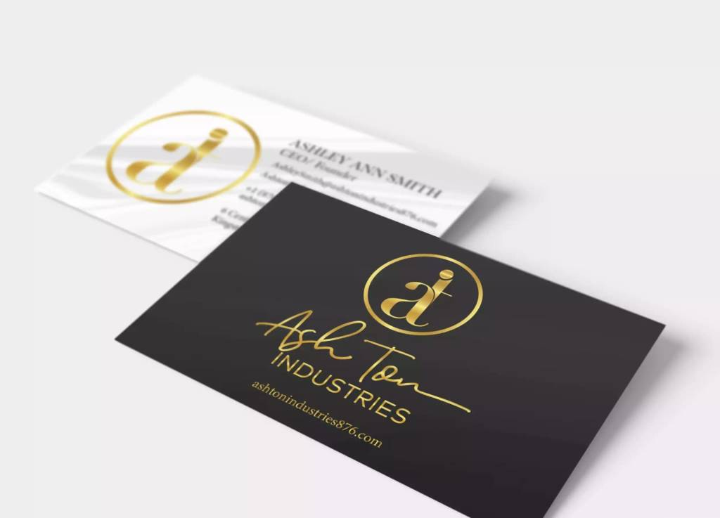 ashton industries professional busniess card