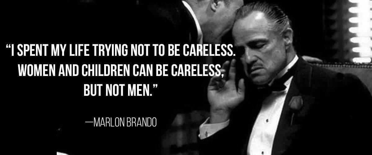 Marlon Brando God Father. Bebas Neue Masculine Google Font.