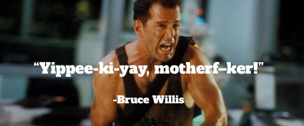 Bruce Willis in Die Hard. Alpha Slab One