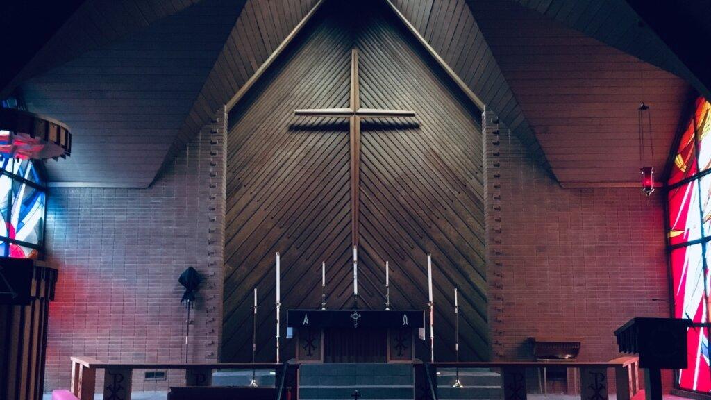 Altar in a church. A popular design niche