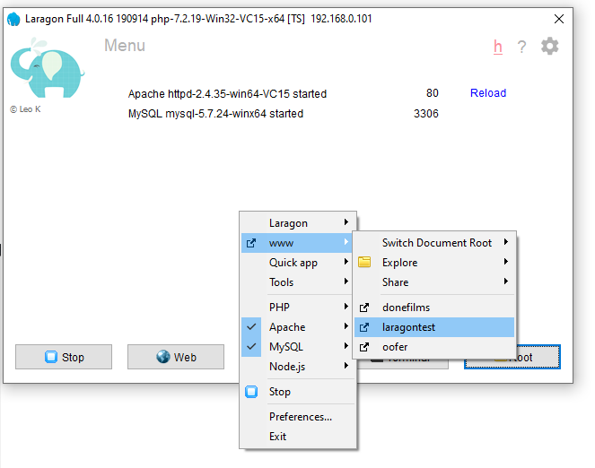 Laragon offline  WordPress local development tool is better than xampp