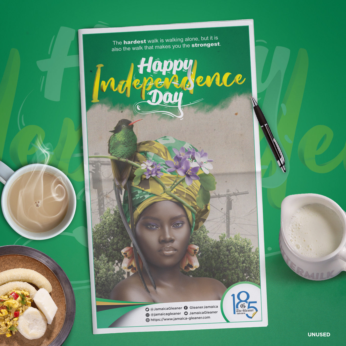 Happy Independence artwork designed by Kenneil Smith