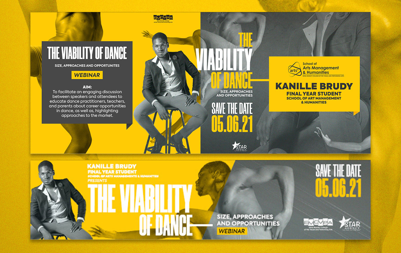 The Viability of Dance promotional artwork designed by Kenneil Smith