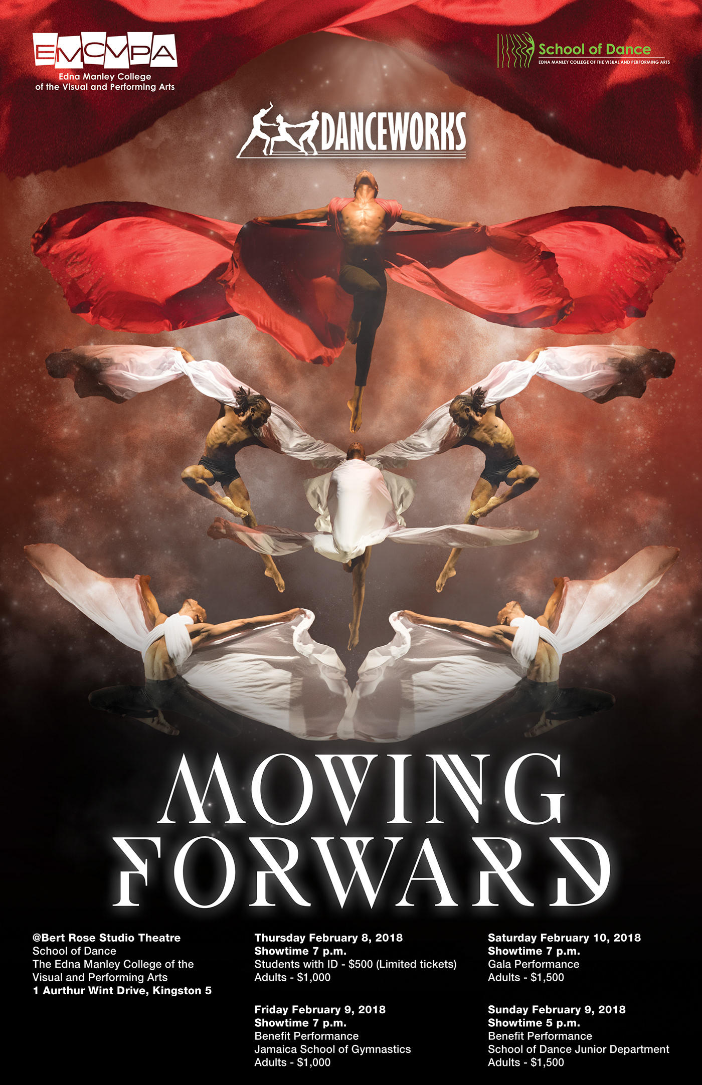 Moving Forward promotional artwork designed by Kenneil Smith